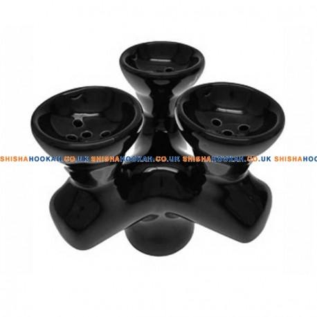 3 Head Shisha Bowl