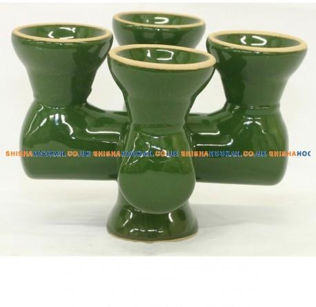 4 Head Shisha Bowls