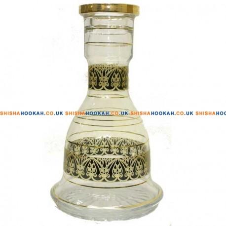 """Amer Vase 26"""" Gold Black"""